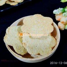 芝麻薄脆饼(无油无糖)的做法