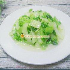 清炒长白菜的做法