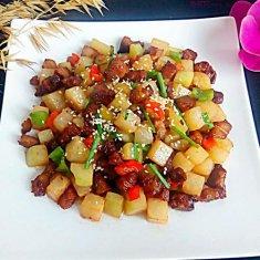 肉丁芥菜头的做法