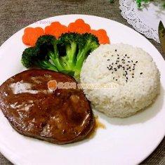 黑胡椒牛排饭的做法