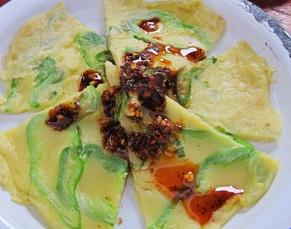 青椒葱香鸡蛋饼的家常做法