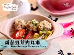 番茄豆芽肉丸湯的做法视频