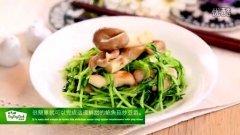 鲍鱼菇炒豆苗的做法视频