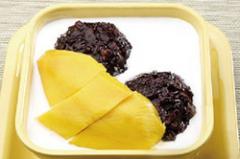 椰汁芒果黑糯米的做法视频