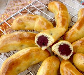 年夜饭美食推荐 紫薯香蕉酥的家常做法