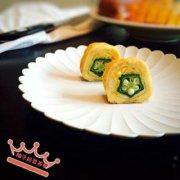 秋葵厚蛋烧的做法