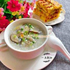 香菇肉片粥的做法