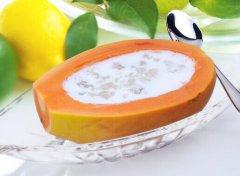 木瓜炖牛奶做法