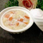 木瓜牛奶炖雪蛤的做法