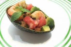 鲜虾牛油果的做法