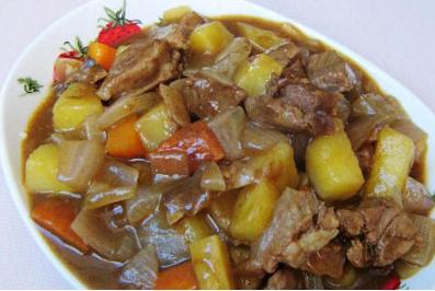 独家自创的咖喱牛肉做法 高压锅咖喱牛肉