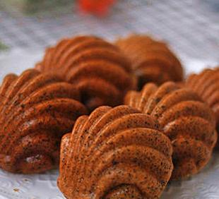 黑芝麻贝壳蛋糕的家常做法