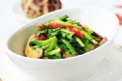 韭菜炒花菇的做法