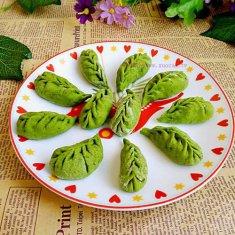 绿叶饺子的做法