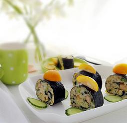 海苔蛋包饭的家常做法