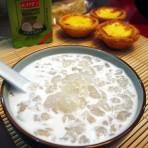 椰汁炖雪蛤膏