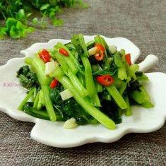 炒小青菜的做法