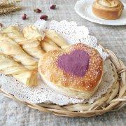 爱心椰蓉千层面包