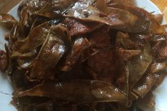 肉片炒编豆干的做法