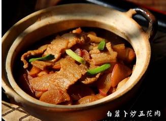 白萝卜炒五花肉的家常做法