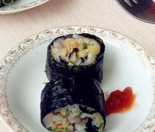 海苔饭卷的家常做法