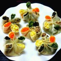 五福蒸饺的做法