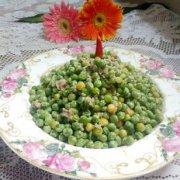 肉末焖豌豆的做法