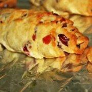 蔓越莓牛角包的做法